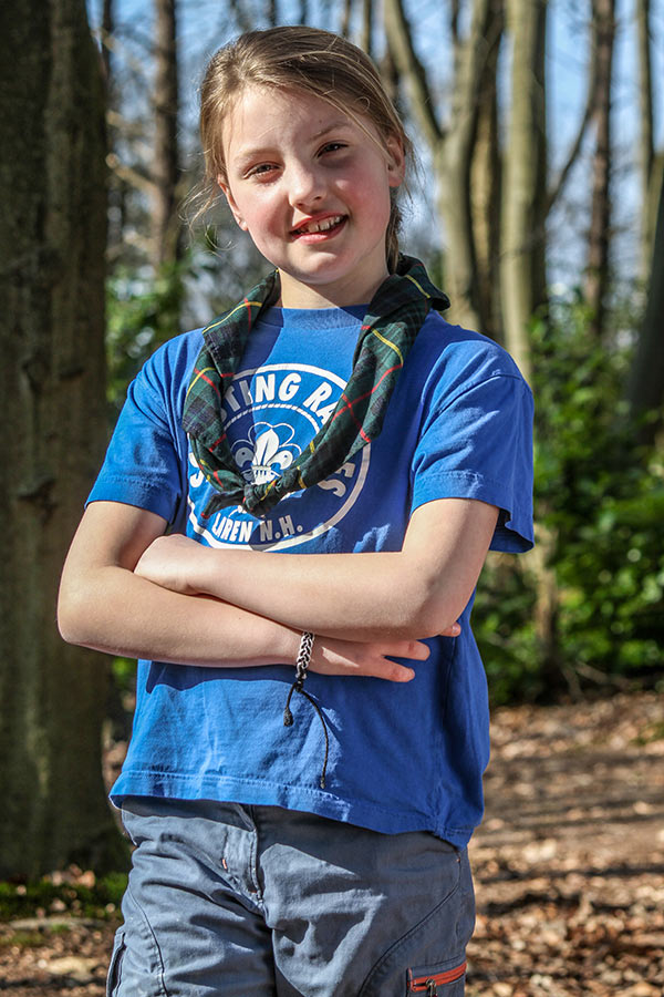 T-Shirt blauw Scouting Raboes